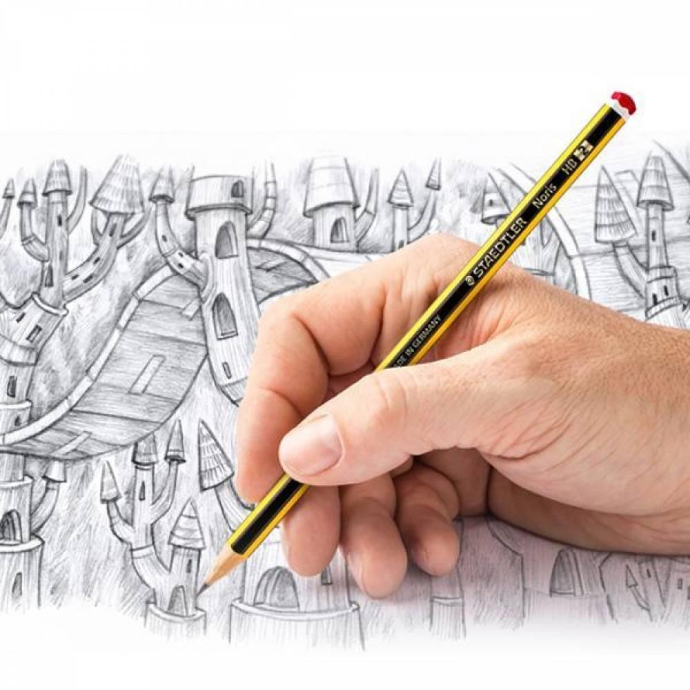스테들러 노리스 120 연필 12개입 연필세트 어린이연필 에코연필 지우개연필 부드러운연필 스테들러연필 독일연필