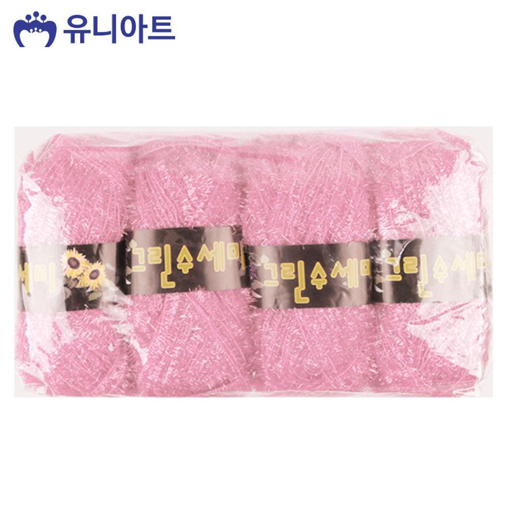 유니아트(털실) 4000 수세미털실 (4개입) (NO.105) 공작 만들기 공예 미술놀이 유아미술