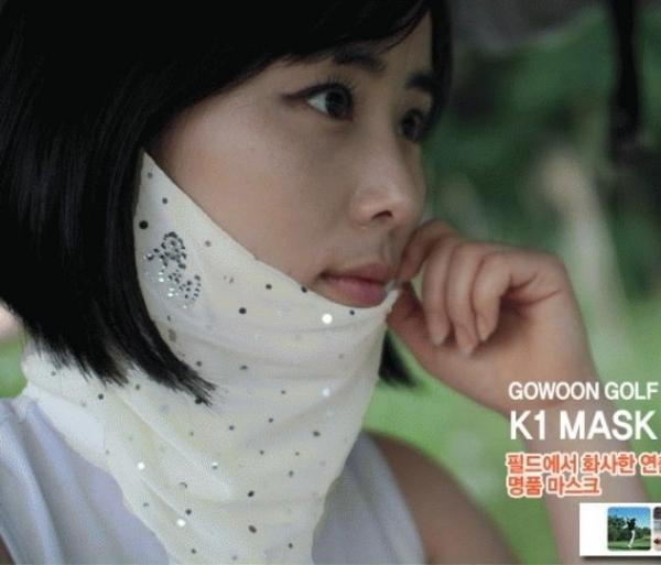 고운 k 마스크 운동시 최적마스크 골프용품 골프연습용품 골프티 볼마커 퍼팅연습
