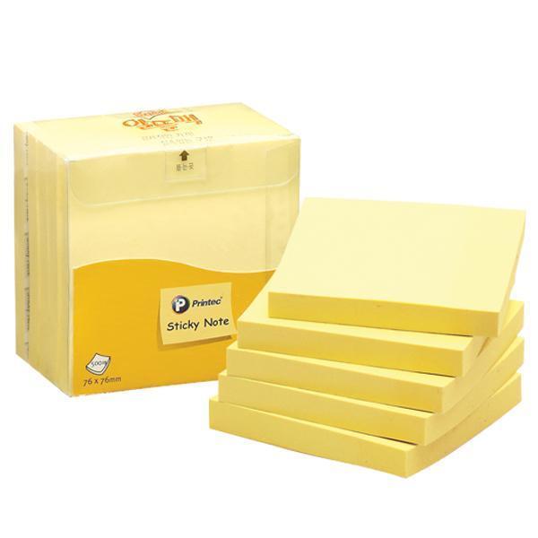 프린텍 A7676Y 스티키노트 노랑 500매 스티키노트 포스트잇 메모지 접착메모지 프린텍 점착메모지