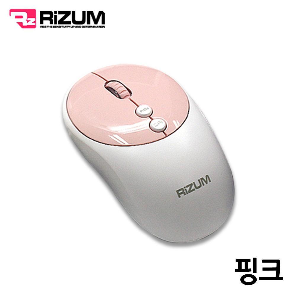 리줌 무선 무소음 블루투스 마우스 (M102) (핑크) 블루투스 마우스 무선 노트북 컴퓨터