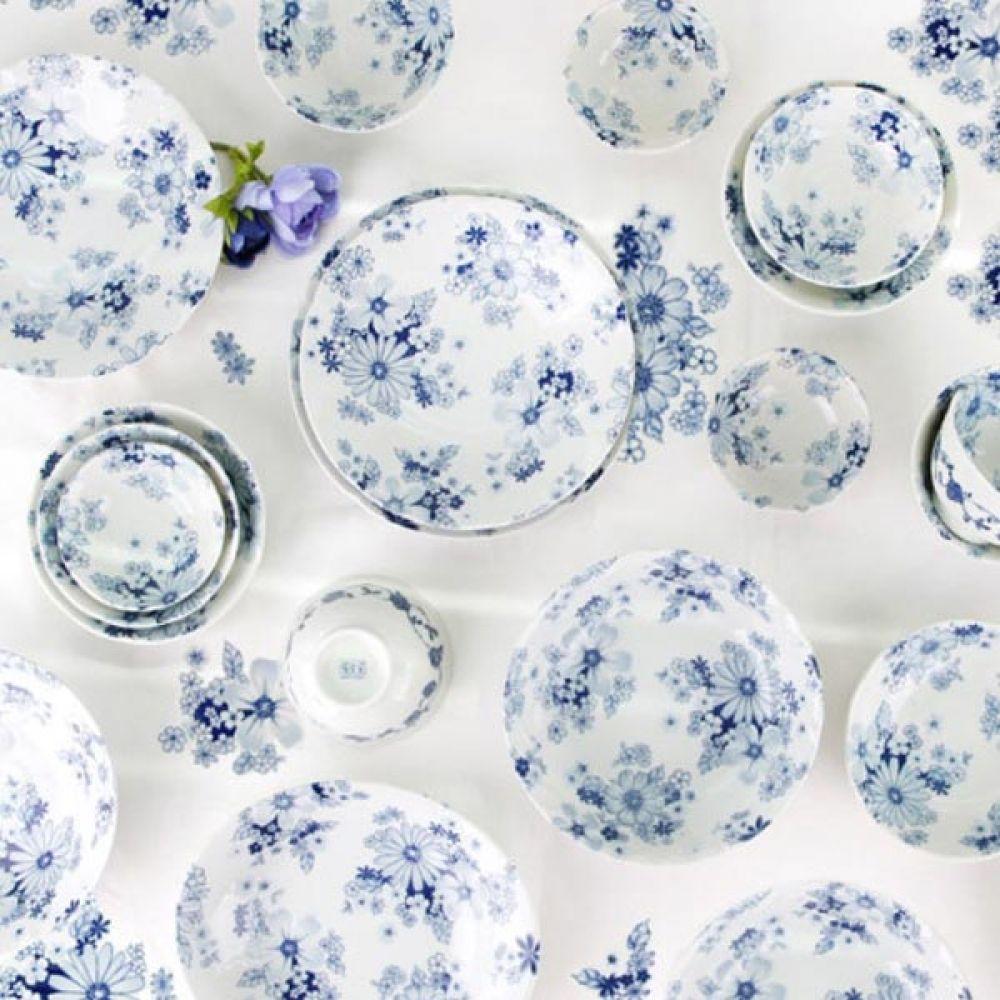 하나플라워 대면기 2P 주방용품 예쁜그릇 그릇 예쁜그릇 주방용품 면기 그릇 밥그릇