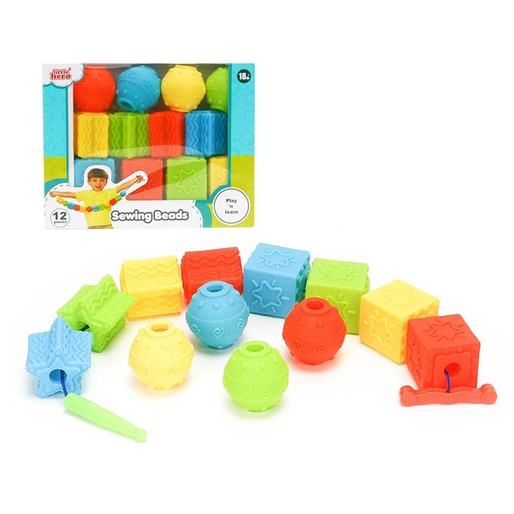 장난감 유아 베이비 소프트 블록 실꿰기 12P 아이 초등학교 장난감 5살장난감 3살장난감 4살장난감