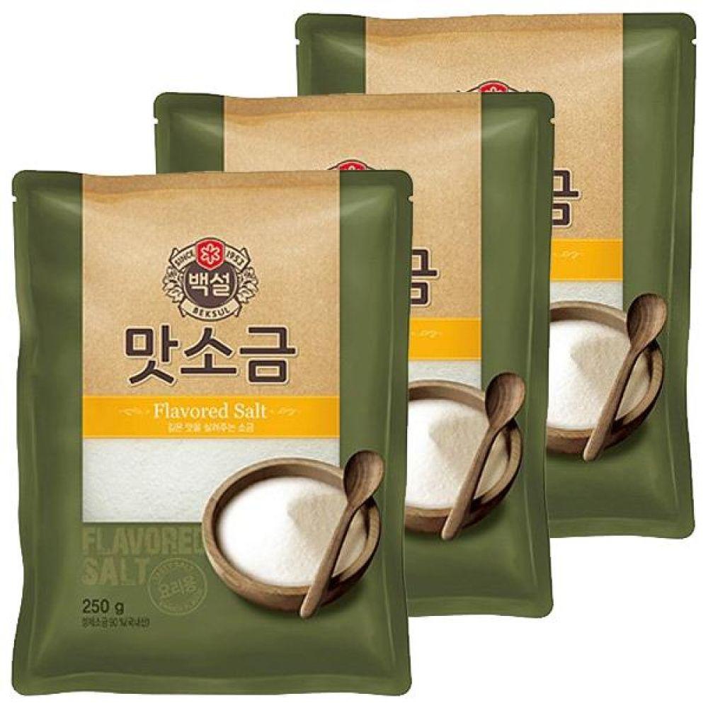 CJ)맛소금 250gx10개 짠맛 간 국 찌개 고기