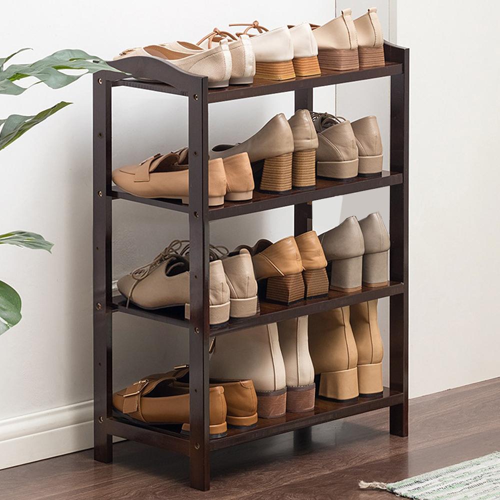 4단 대나무 신발장 다크브라운 51cm 신발정리대 신발장 수납용품 조립식수납장 신발정리대 조립식신발장