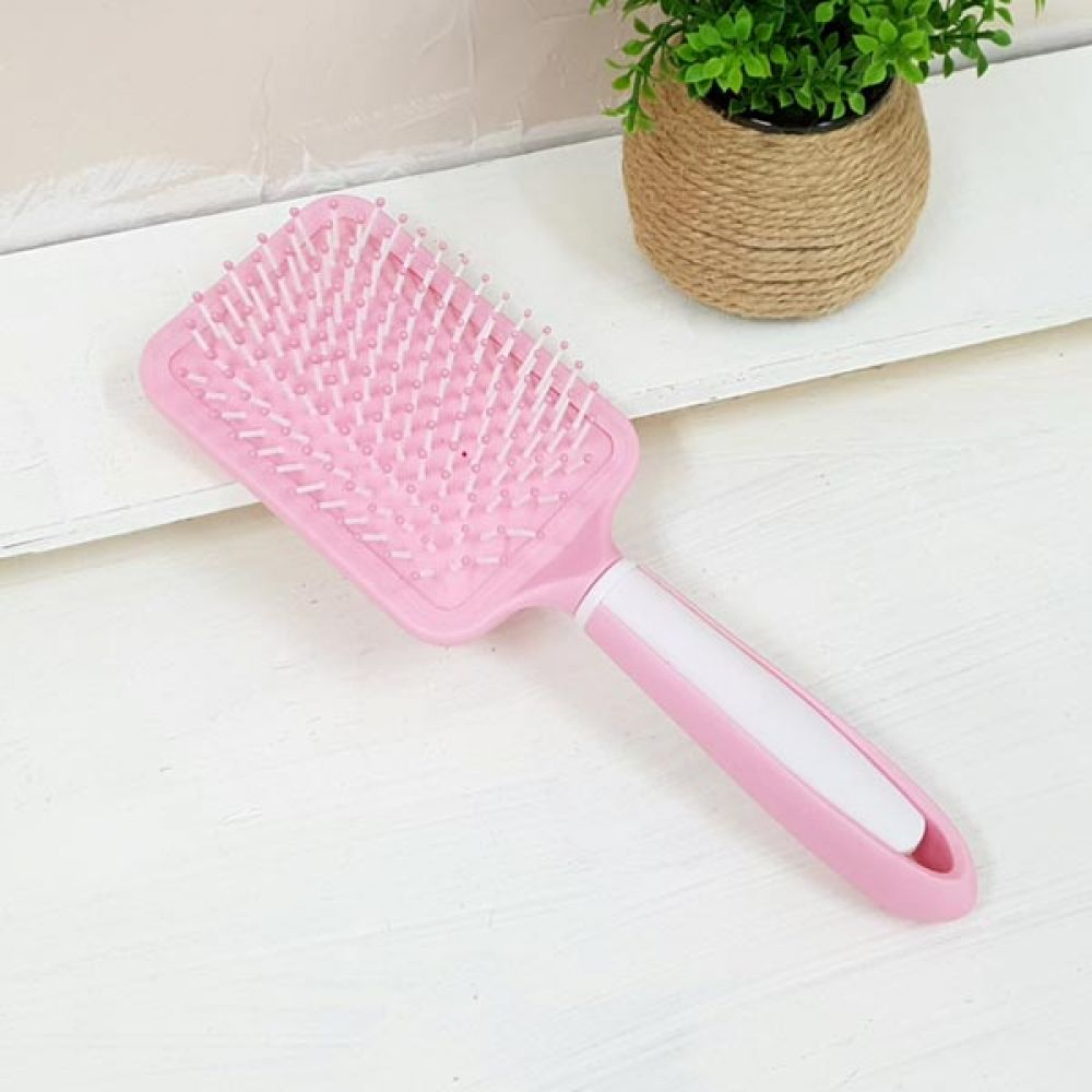핑크 소프트 사각 쿠션브러쉬 머리핀 꼬리빗 미용가위 머리빗 머리손질 꼬리빗 미용가위 롤빗
