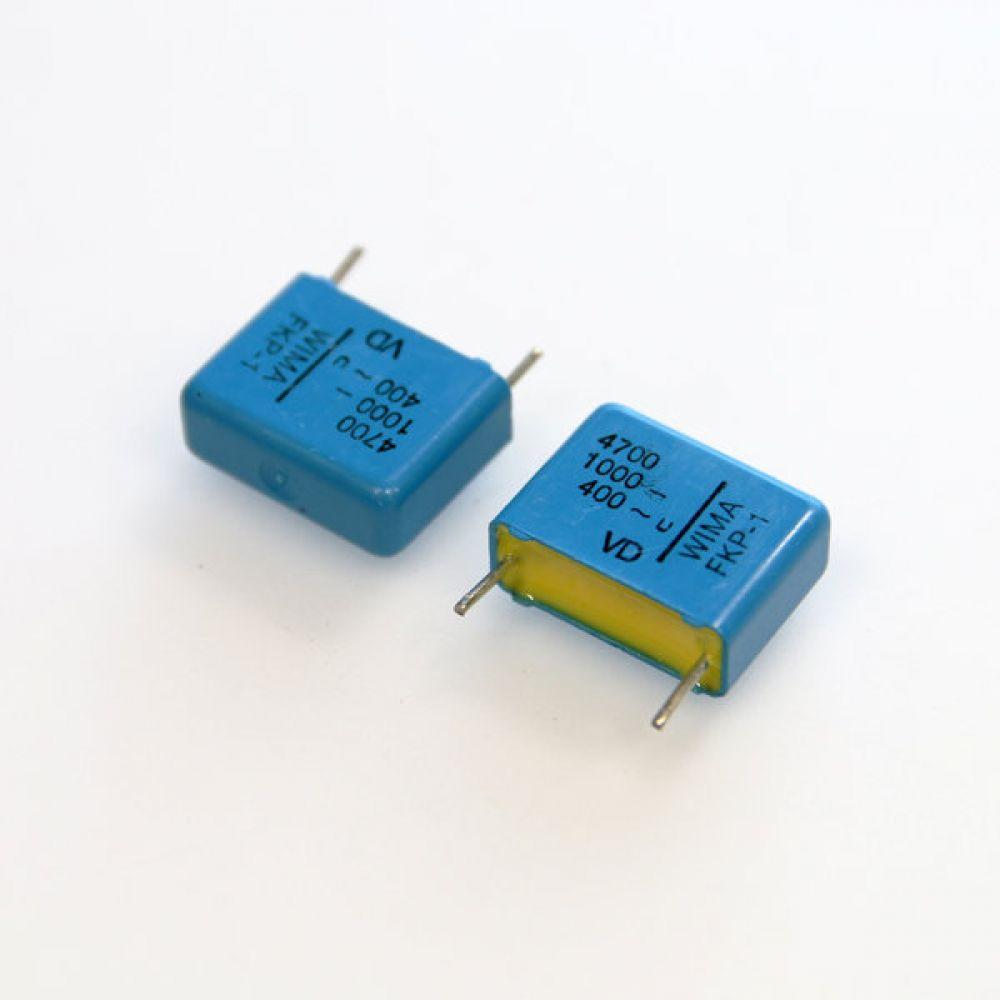 독일 위마 콘덴서 캐패시터 1000V 4700pF FKP1 2개씩 5묶음 콘덴서 오디오 캐패시티 audio 위마 WIMA 독일