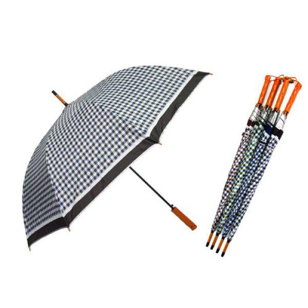 70장우산-체크 1단우산 장우산 패션우산 자동우산 판촉우산
