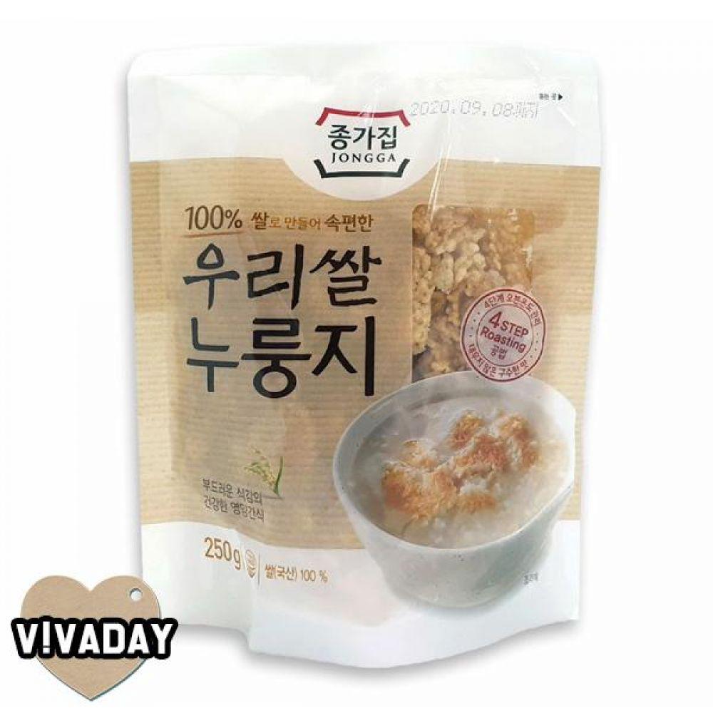 MY 종가집 우리쌀 누룽지 250g 간편식품 즉석식품 자취생 누룽지 쌀국수 컵라면 라면 컵쌀국수