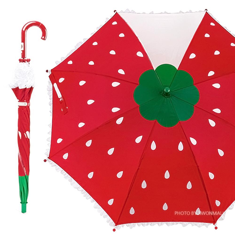 라프롬나드 53 딸기 한폭 우산 우산 유아우산 아기우산 아동우산 어린이우산 초등학생우산 캐릭터우산 캐릭터장우산 자동우산 3단자동우산 3단우산 투명우산 유아투명우산 어린이투명우산 장마