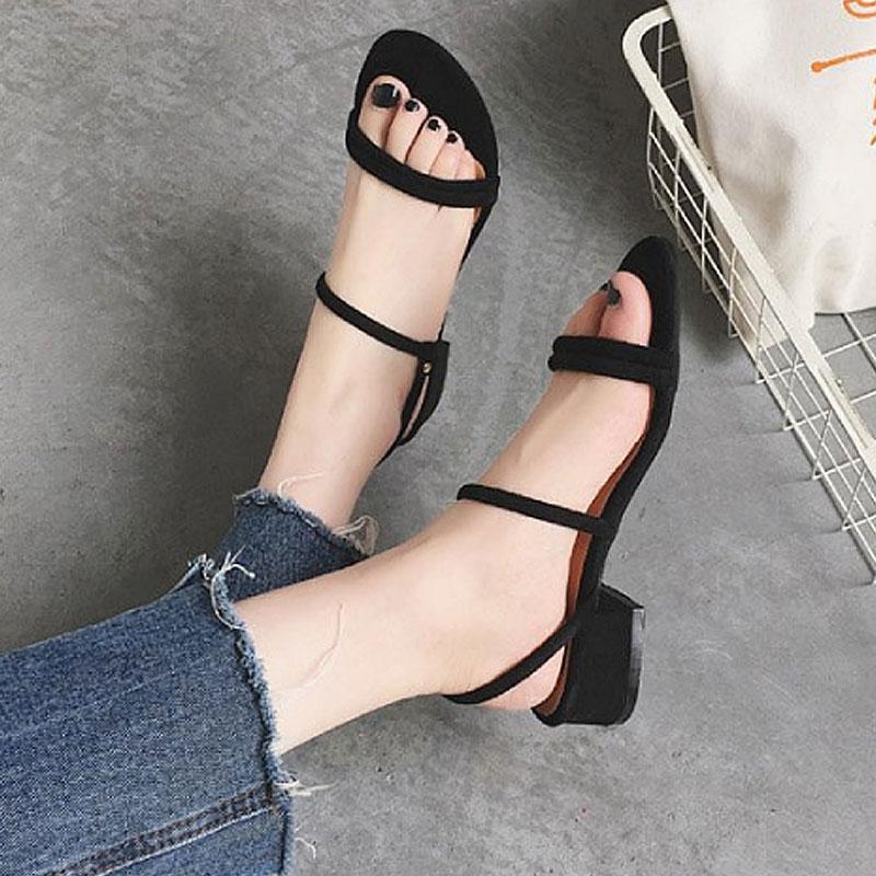 여성 스웨이드 슬링백 미들힐 샌들 블랙 wd05282 여자신발 여성신발 패션화 패션신발 샌들