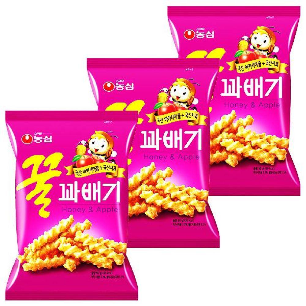 농심) 꿀꽈배기 90g x 15개 과자 스낵 간식 대량도매 도매
