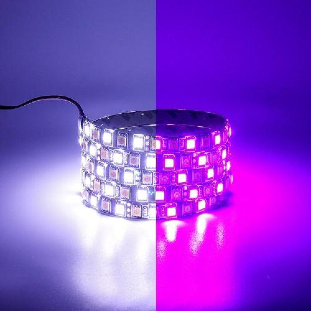 12V용 플렉시블 LED바 6cm 화이트-핑크LED 2컬러 브레이크숨쉬기모듈포함