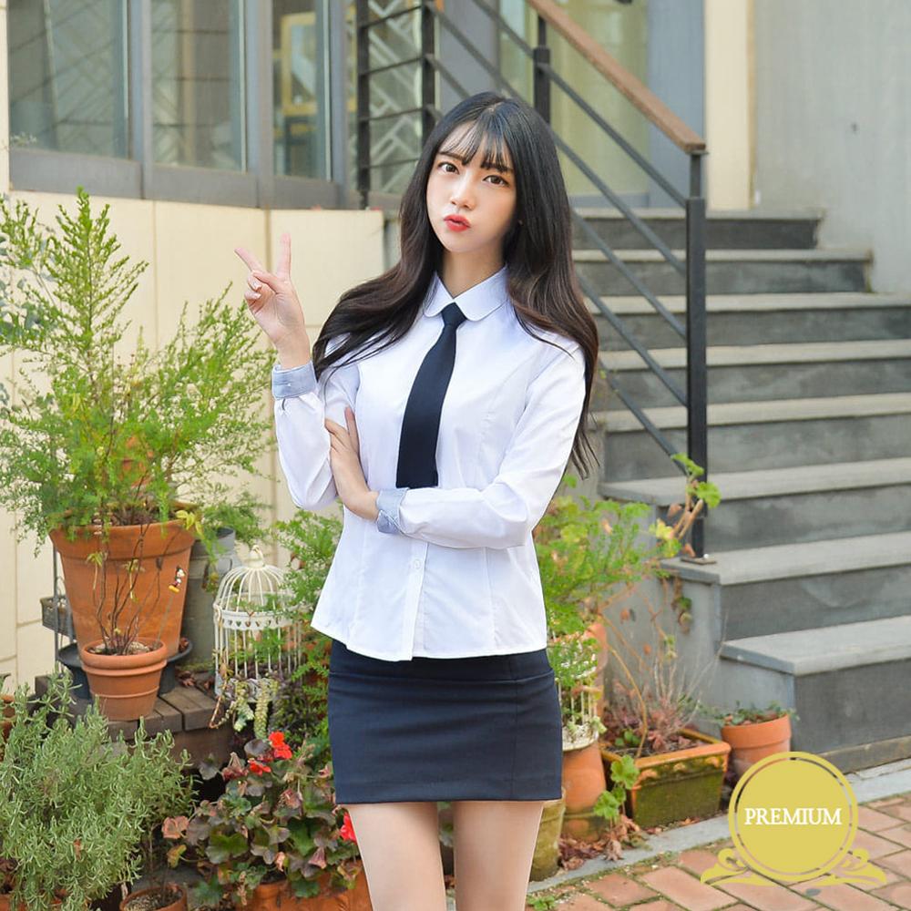 프리미엄 여성 둥근카라 셔츠 (둥근카라 밝은블루) 교복셔츠 교복 교복쇼핑몰 교복와이셔츠 남자교복 학생복 교복남방 교복블라우스 여자교복 고등학교교복