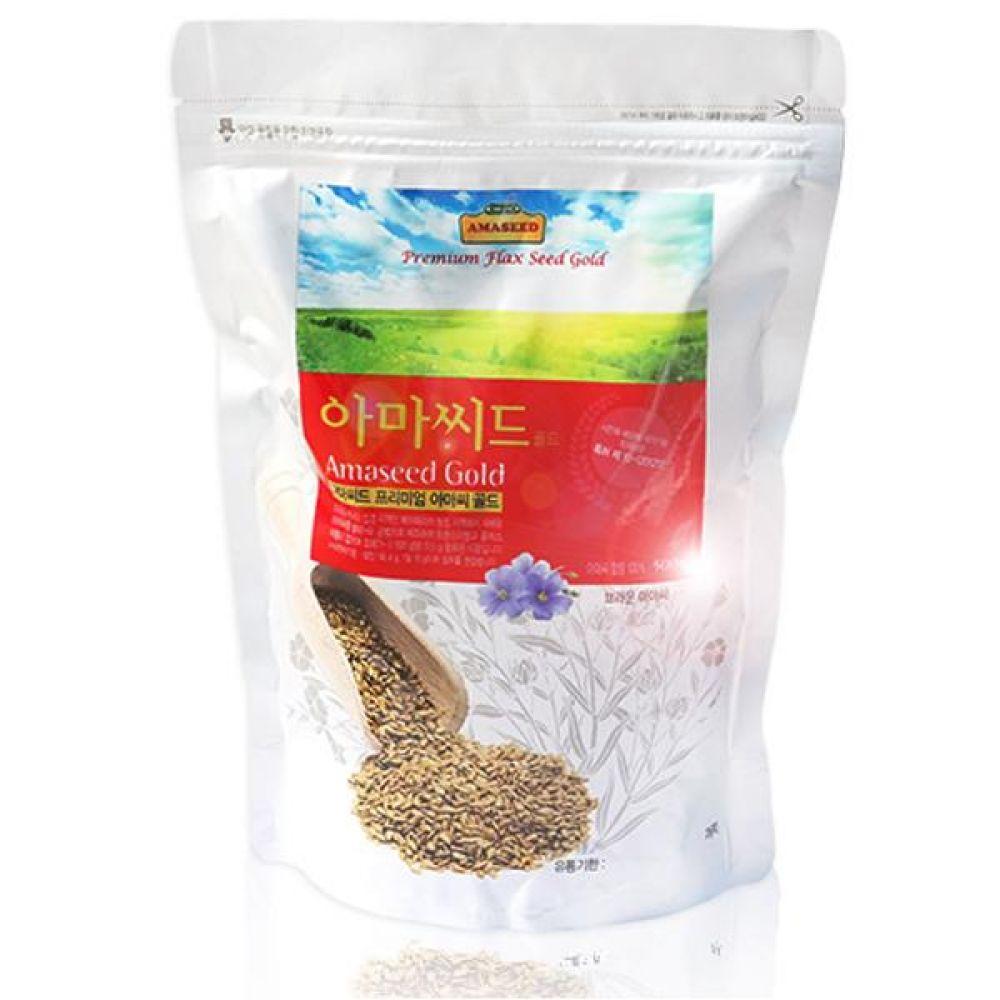 아마씨드 아마씨 브라운 500g 오메가3 리그난 식이섬유 비타민 미네랄 풍부 로스팅  제거 건강 보조 오일 씨 식품