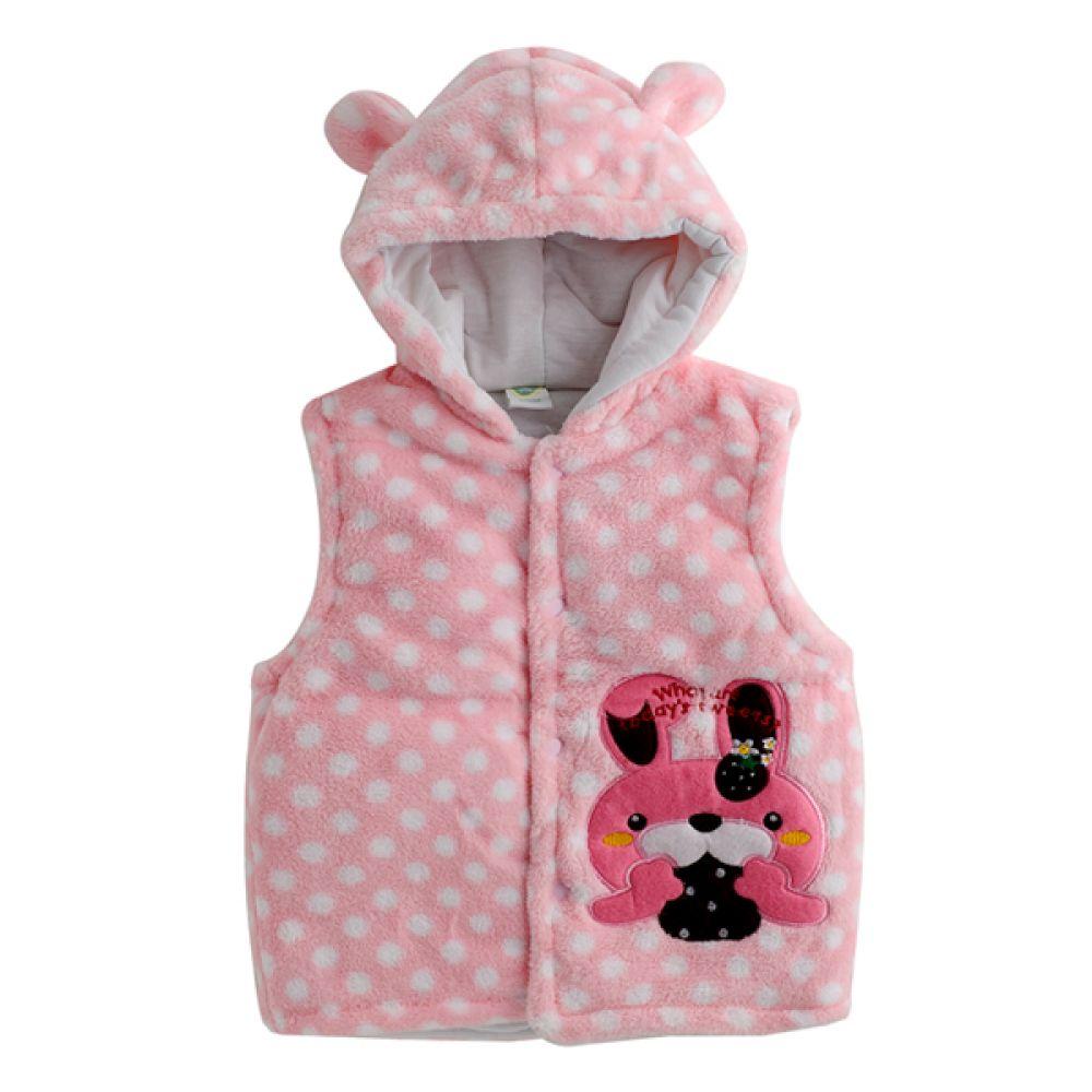 딸기 토끼 유아 조끼(6-12개월) 202407 수면조끼 아기조끼 신생아조끼 조끼 엠케이 조이멀티