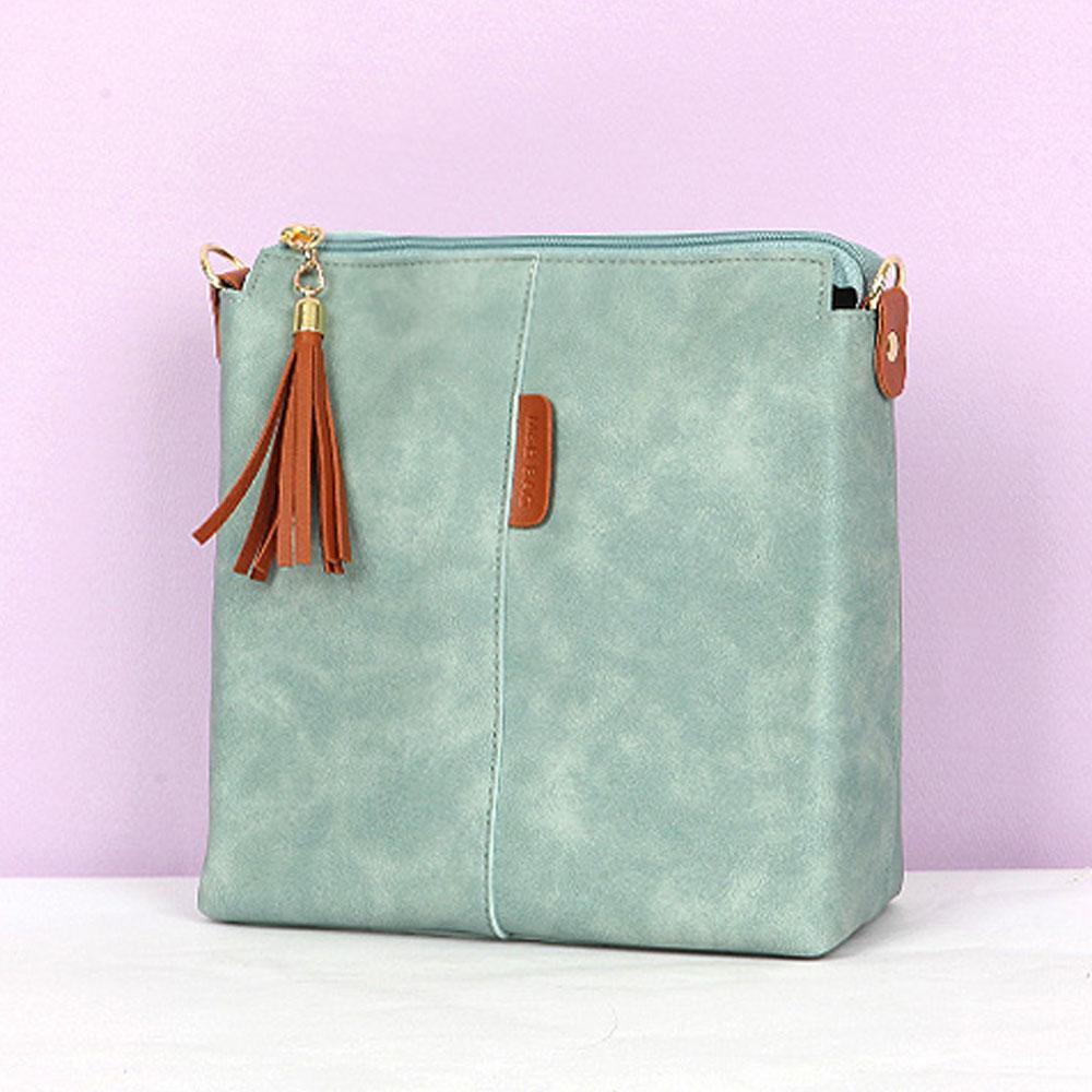 민트 여성 세련된 기본 스타일 크로스 여자 가방 여성숄더백 여자숄더백 이지백 캐주얼백 여성가방