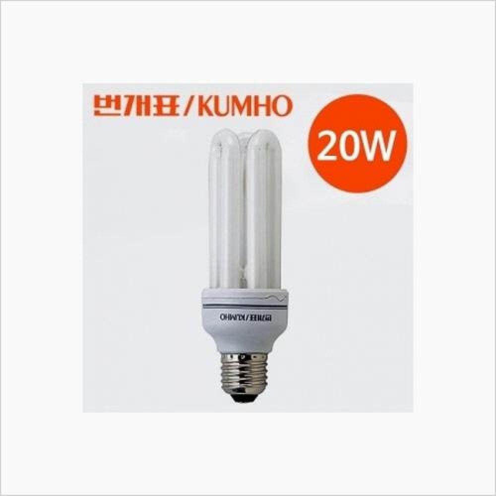 조명용품 번개표 삼파장전구 20W 주광색 철물용품 인테리어조명 홈조명 매장조명 삼파장램프 램프 일반램프 EL램프 PL램프