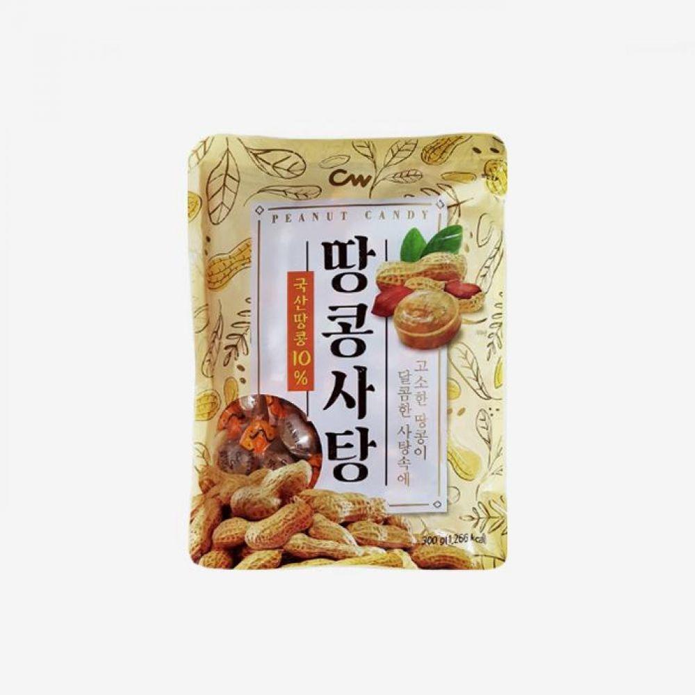 청우 땅콩사탕 300g 12개 1박스 청우식품 간식 주전부리 스낵 과자 캔디 땅콩사탕
