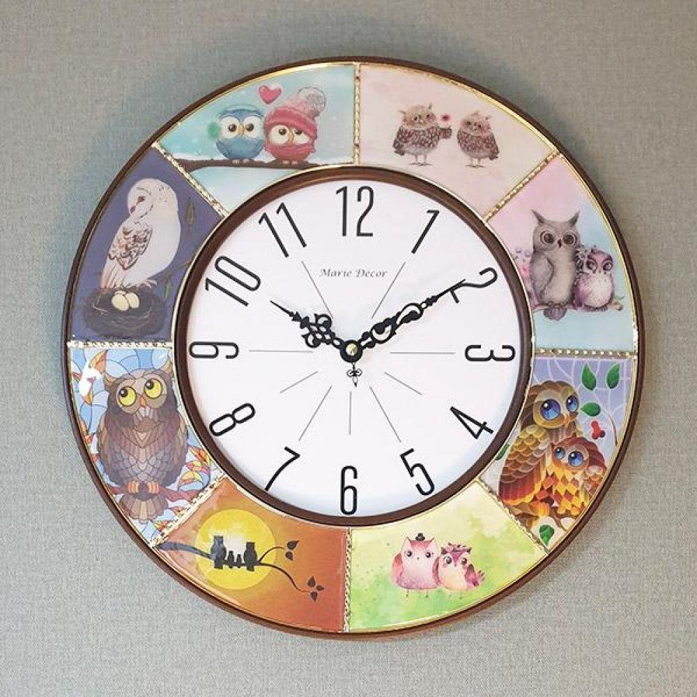 부엉이 갤러리 벽시계 (앤틱) 벽시계 벽걸이시계 인테리어벽시계 예쁜벽시계 인테리어소품
