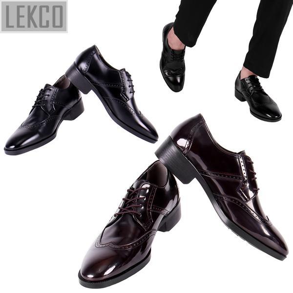 [LEKCO] 남성정장 구두 윙팁 럭셔리 굽 4cm 키높이 LK-180015 정장구두 신사화 수제화 수제구두 남자신발
