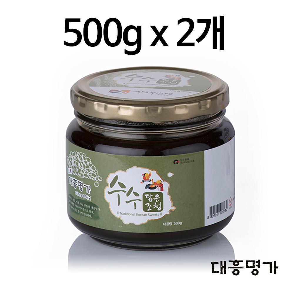 수수조청 500g 2개 세트  수수청 몸에좋은음식 건강선 부모님선물 부모님건강선물 수수청 몸에좋은음식 건강선물세트