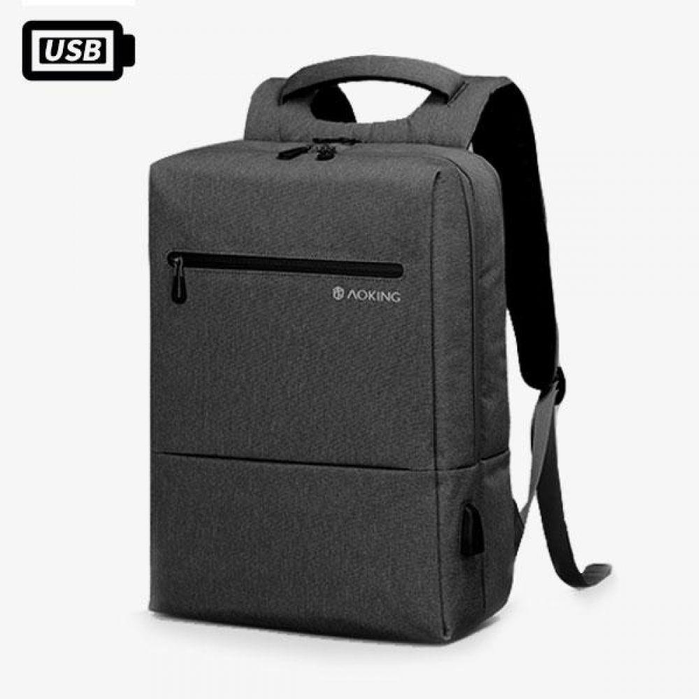 KJ_FKK019 스퀘어 다기능 USB 백팩 데일리가방 캐주얼백팩 디자인백팩 예쁜가방 심플한가방