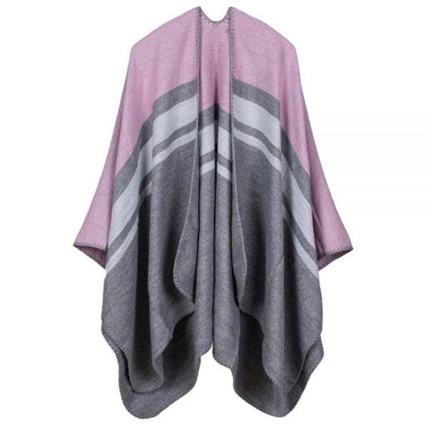 미시옷 0460RL812 배색 숄 오픈 가디건 LK 빅사이즈 여성의류 빅사이즈 여성의류 미시옷 임부복 오픈배색숄가디건