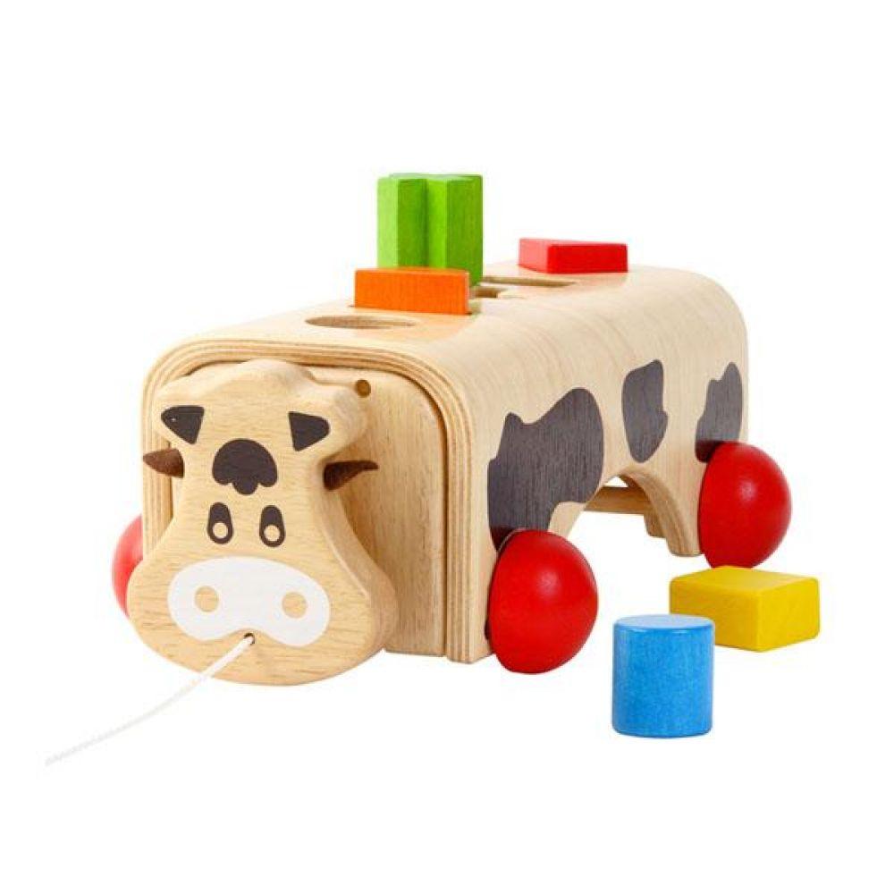 브알라 얼룩소 도형놀이(S231B) 원목 블럭놀이 아기도형끼우기 원목도형끼우기 유아도형끼우기 장난감 원목블럭장난감 퍼즐 아기퍼즐 유아퍼즐