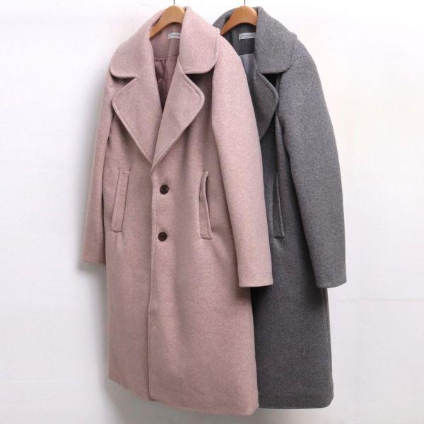 미시옷 3969L812 러블리 카라 롱 코트 BA 빅사이즈 여성의류 빅사이즈 여성의류 미시옷 임부복 뽀송투버튼롱코트