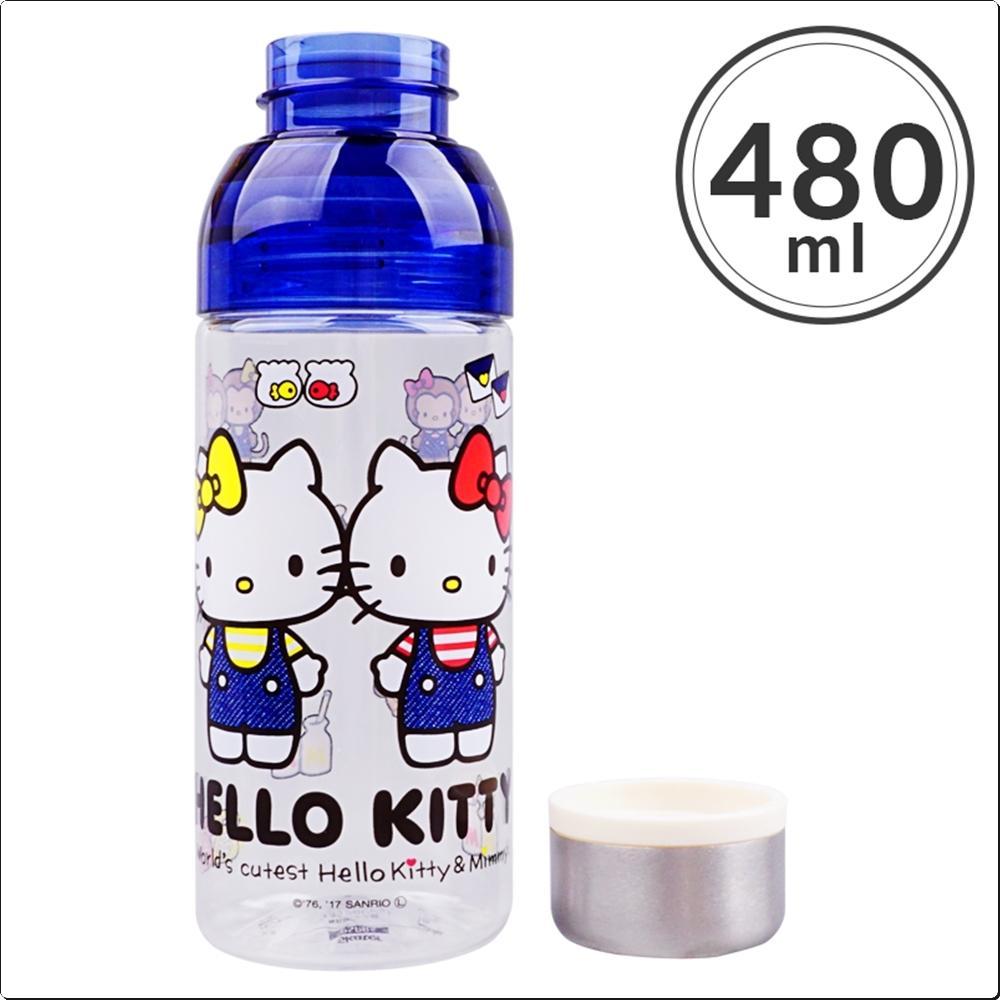 헬로키티 데님 분리형 보틀 480ml (물통)(일)(410536) 캐릭터 캐릭터상품 생활잡화 잡화 유아용품