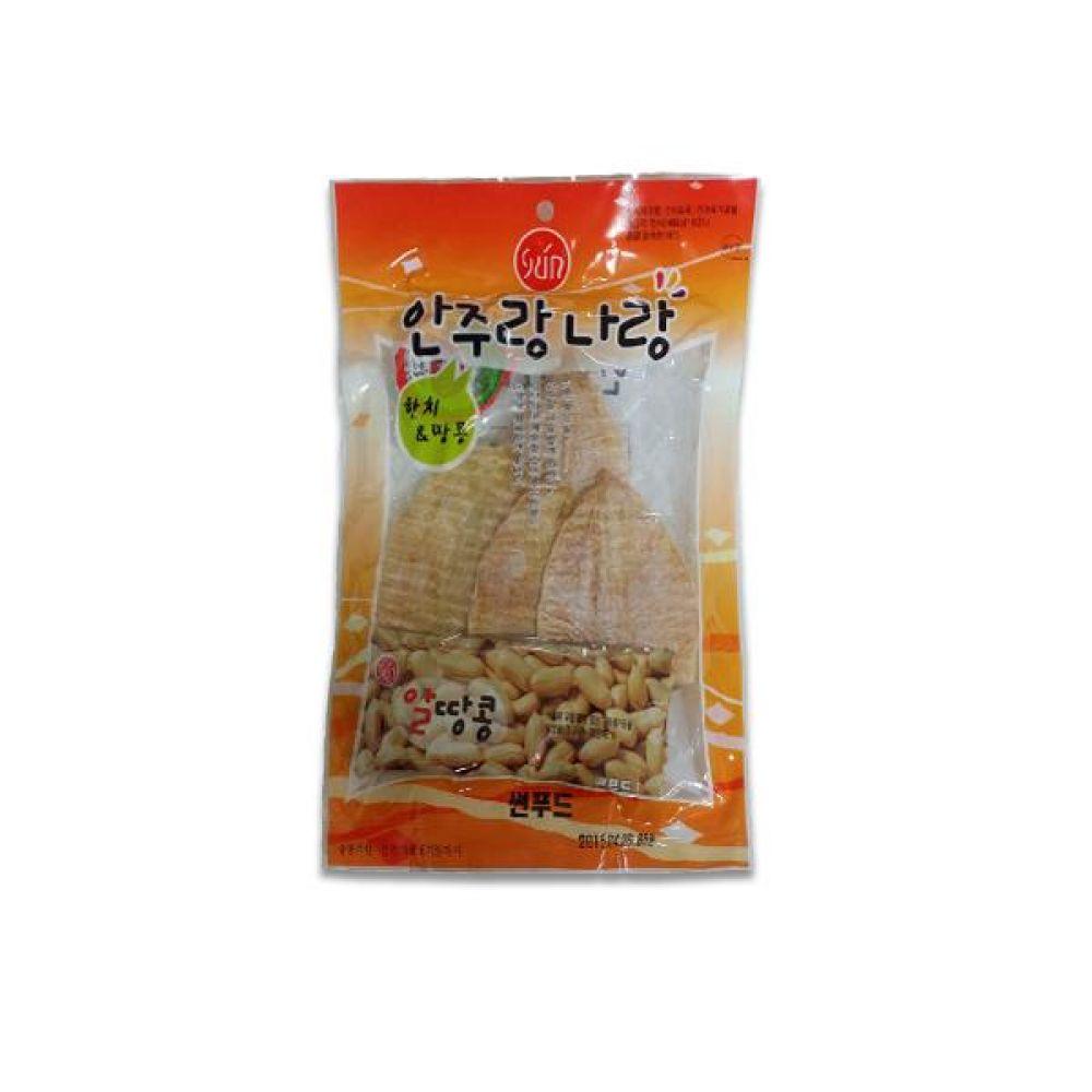 썬푸드) 한치 땅콩 65g x 10개 술안주나 아이들 영양간식으로도 일품 간식 마른 안주 자반 안주도매