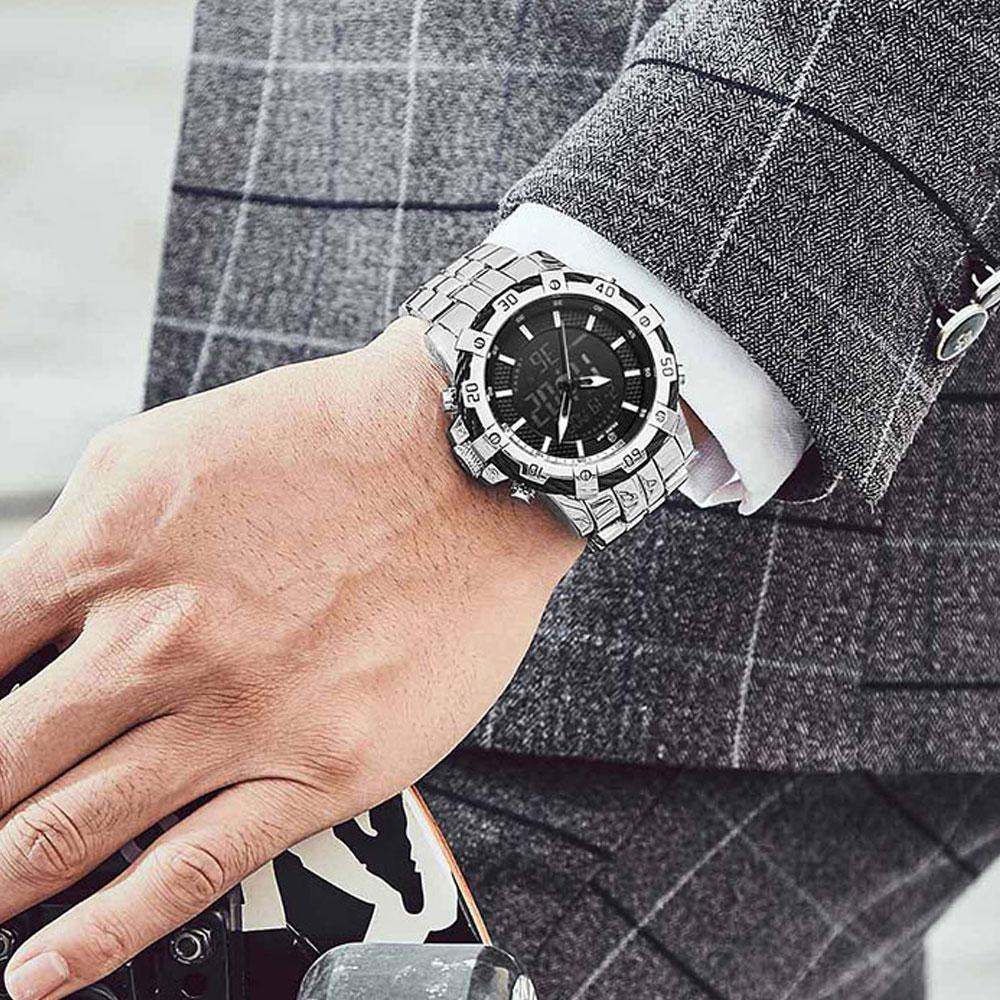 메탈ALL실버 30대 남자 고급 손목 시계 40대 남성 고급손목시계 시계 남자손목시계 메탈시계 30대남자손목시계