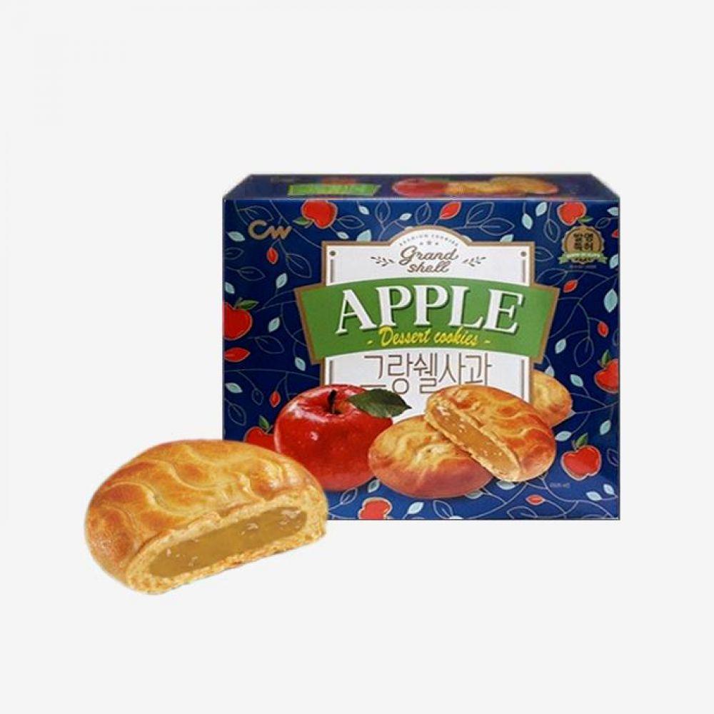 청우 그랑쉘 사과 195g 10개 1박스 청우식품 간식 주전부리 스낵 과자 캔디 그랑쉘