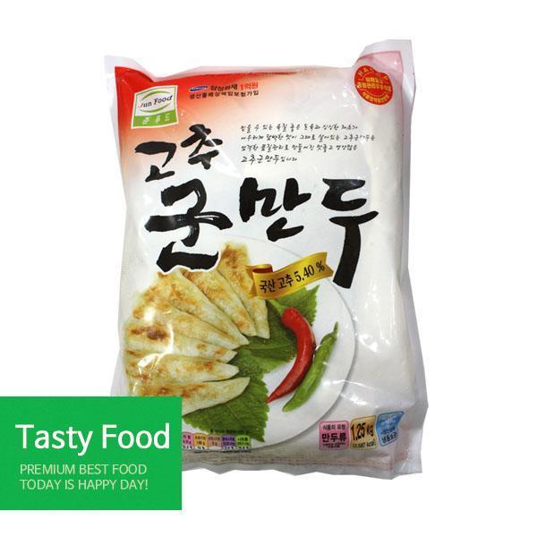 (냉동)준푸드 고추군만두1.25kgX10개 만두 준푸드식품 고추군만두 식자재 식품