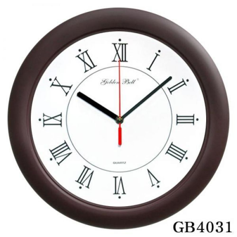 GB4031 고급 무소음 밤색 벽시계 320파이 제조한국 벽시계 인테리어시계 무소음벽시계 판촉시계 컬러시계 베이직시계 포인트시계 디자인시계 사무실시계 거실시계