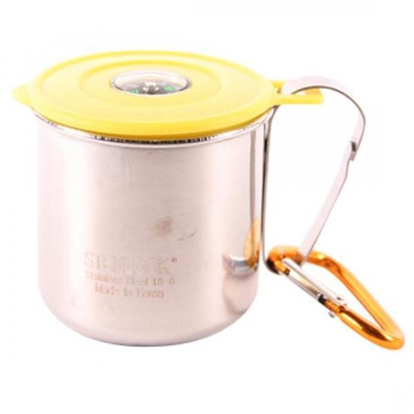 (set)나침반스텐등산컵1호(색상램덤)6x6cm 4개 캠핑컵 스텐컵 휴대용컵 텀블러 물컵