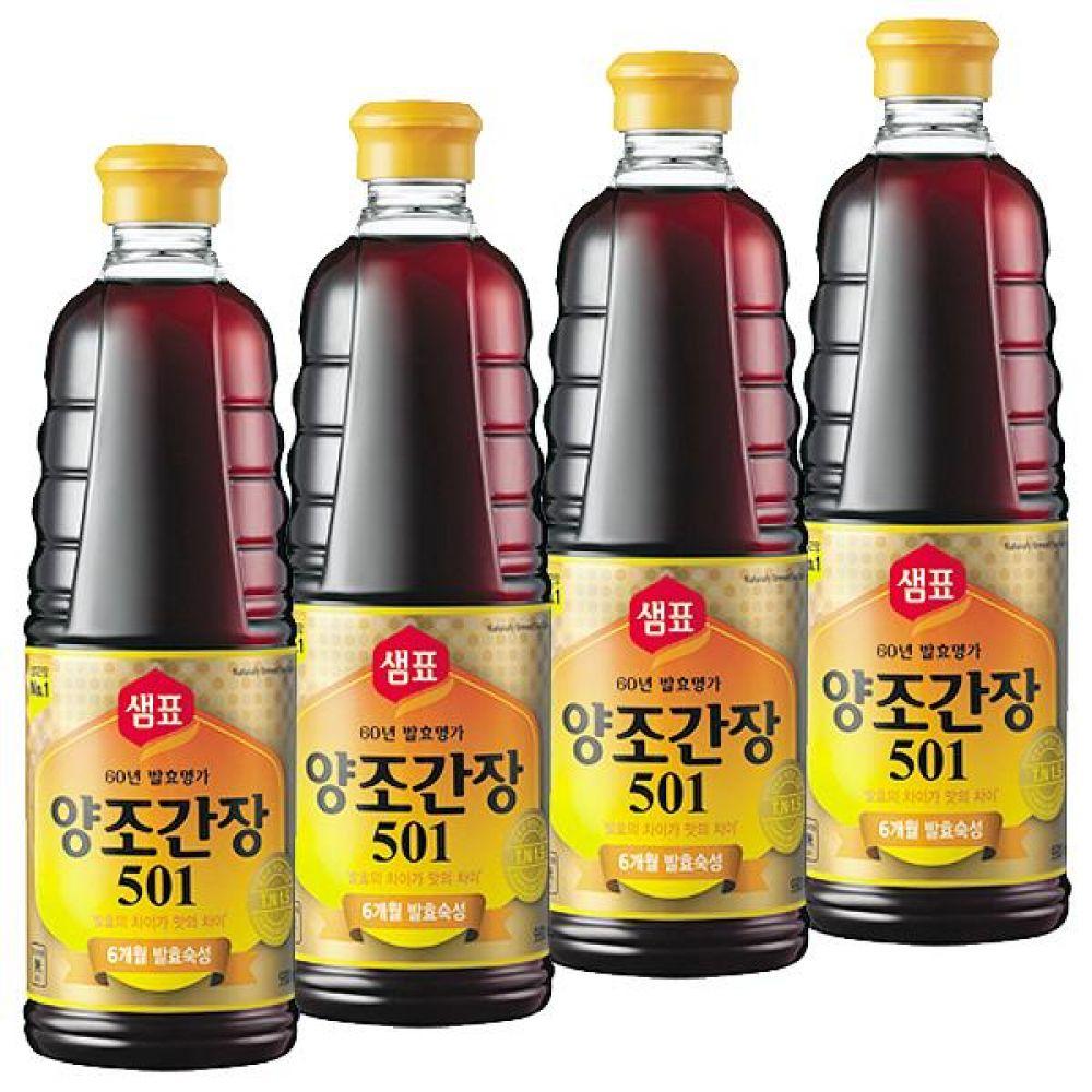 샘표)양조 501S 간장 500ml x 12개 소스 장 짠맛 진한맛 국물