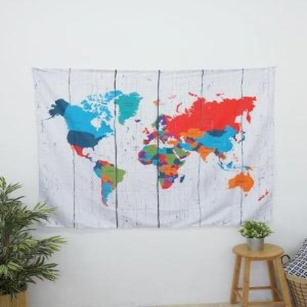 태피스트리 (컬러지도) 벽장식소품 천포스터 벽걸이소품 가리개 인테리어소품