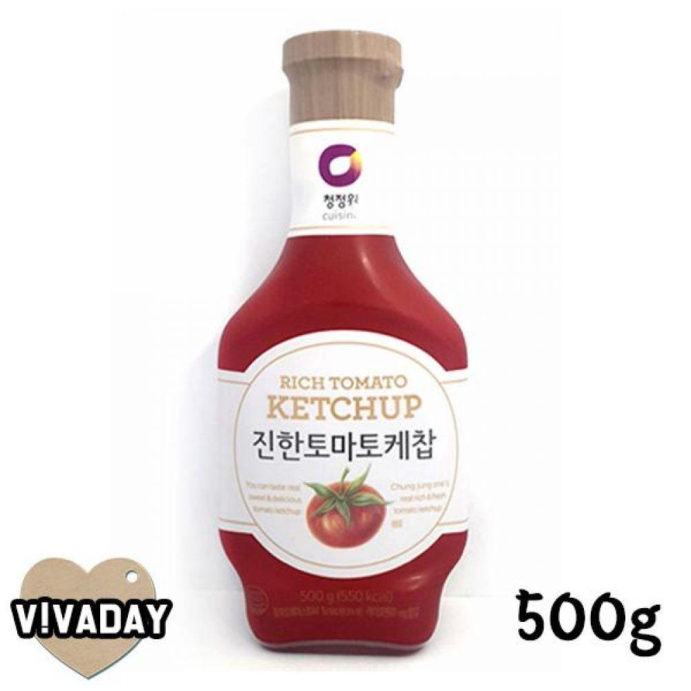 MY 청정원 진한토마토케찹500g 3분요리 간편식품 즉석식품 자취생 마요네즈 케찹