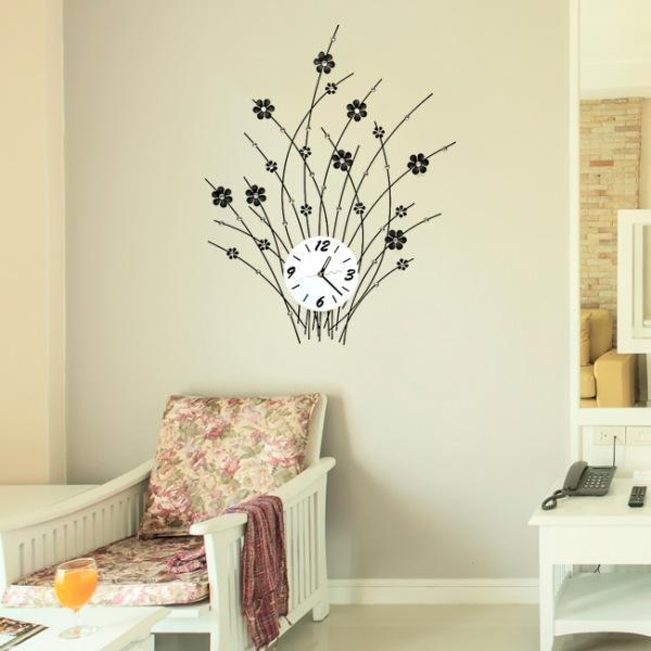 JHC컴퍼니 봄꽃 크리스탈 벽시계(72cm) 벽시계 탁상시계 시계 클래식시계 엔틱벽시계