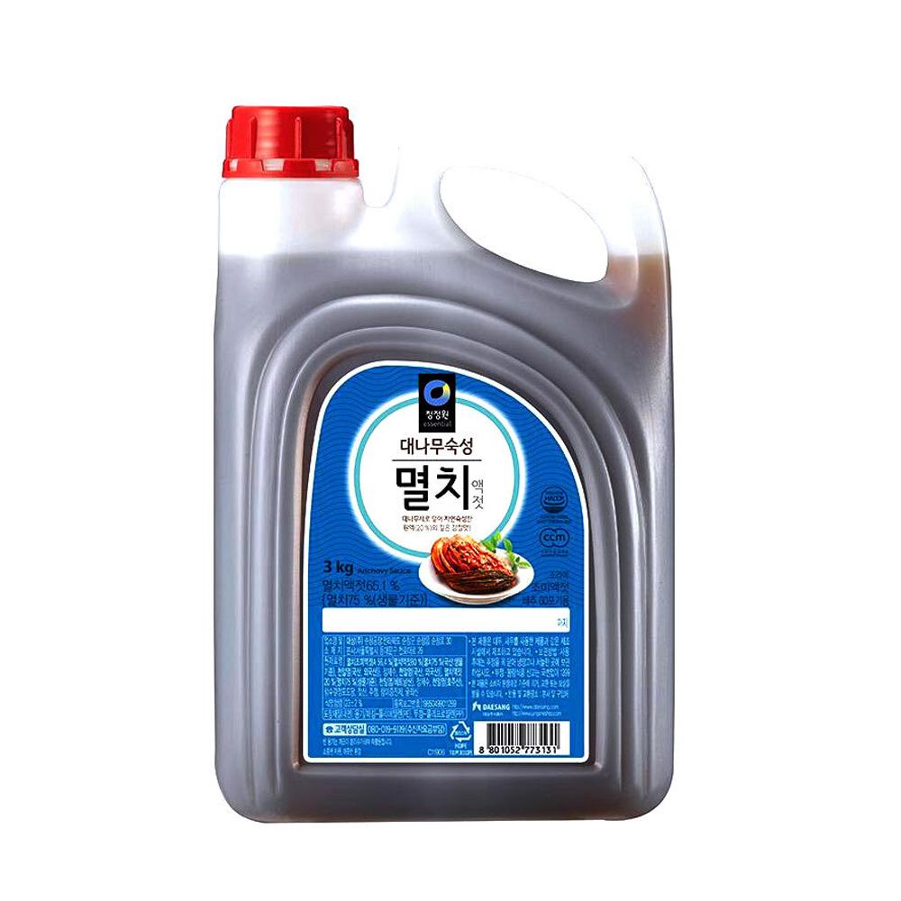청정원 대나무숙성 멸치액젓 3kg 대용량 액젓 김장 양념 청정원 멸치액젓 액젓 숙성액젓 조미료