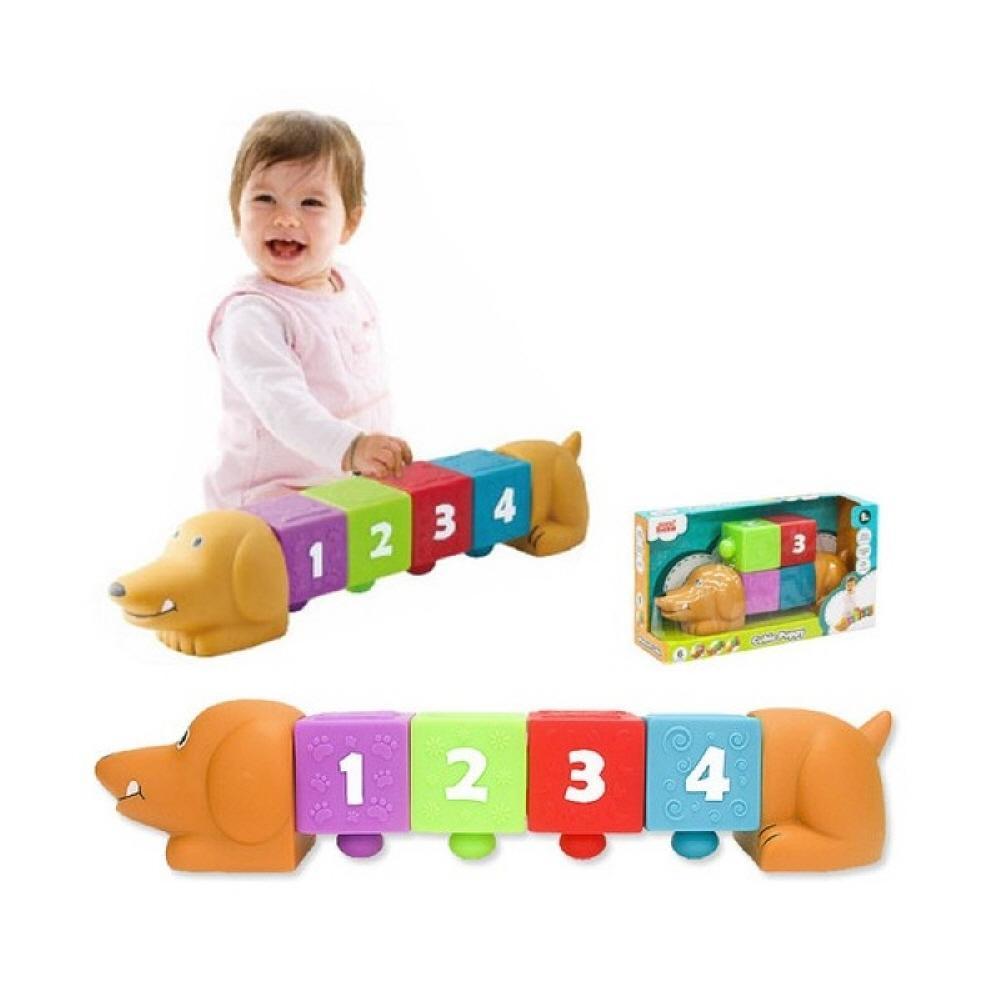 3세 어린이집 교구 장난감 블록 소프트 큐빅 강아지 퍼즐 블록 블럭 장난감 유아블럭
