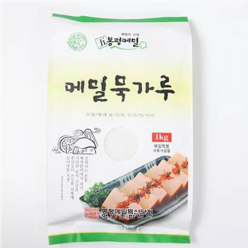 (식자재 박스판매)봉평 메밀 묵가루 1kg x 10개 메일 국수 가루 묵 건강