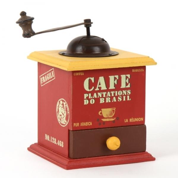 빈티지 카페 커피머신 수납함(레드)