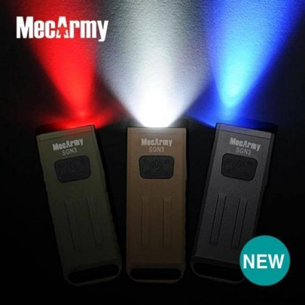 맥아미(MecArmy)멀티라이트160루멘(충전식) 맥아미 멀티 미니 랜턴 160 액세서리 usb USB 충전 키 열쇠고리 LED UV