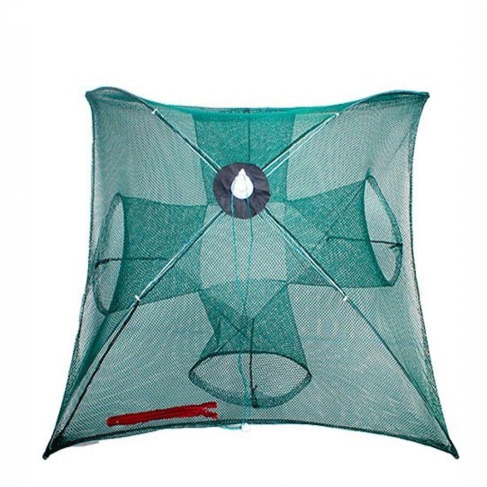 원터치 4구통발 우산형 원터치 통발 낚시 물고기망 낚시용품 낚시어망 그물망 사각통발 물고기망