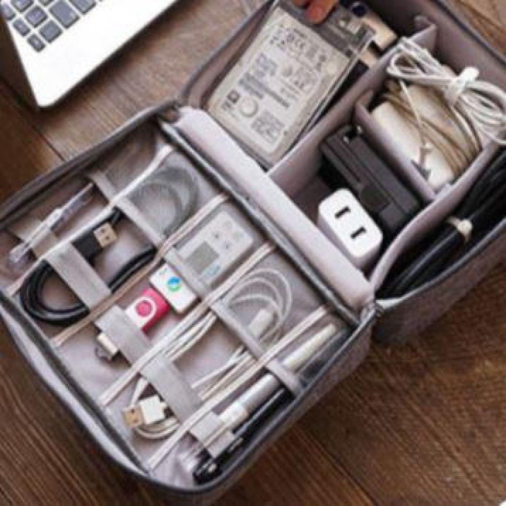 케이블백 여행 헤드폰 보관 휴대용 충전기 정리함 usb 이어폰 전선 USB 케이스 보관 정리 케이블
