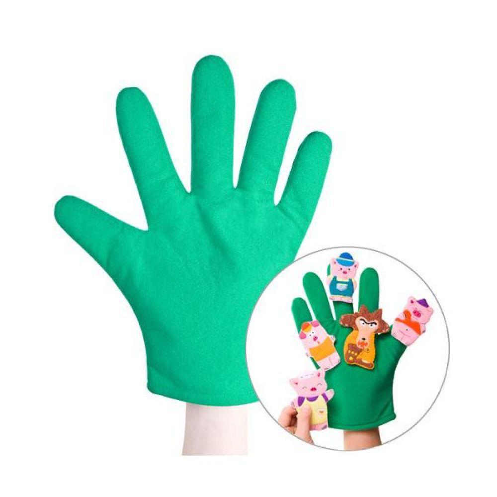 녹색 손장갑 완구 문구 장난감 어린이 캐릭터 학습 교구 교보재 인형 선물