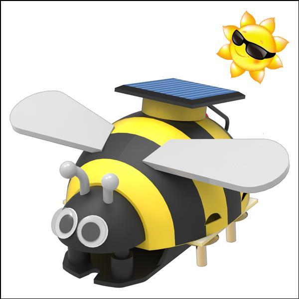 미니 꿀벌 태양광 진동로봇 5인용 과학교구 두뇌발달 DIY 과학키트 만들기 향앤미